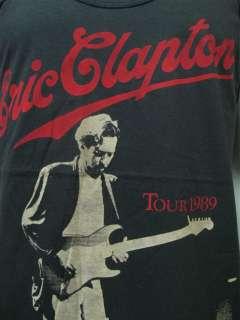 ERIC CLAPTON Concert Tour 1989 Vintage Retro T Shirt L