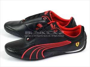 Puma Drift Cat 4 SF Black Rosso Corsa White Classic Leather Ferrari