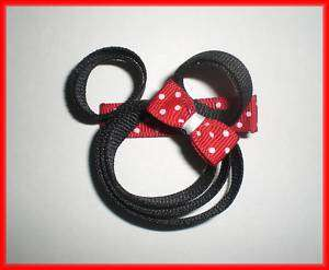MINNIE MOUSE Boutique Ribbon Hair Bow Baby Girl Clippy