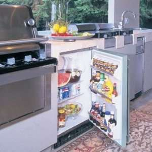 Defrost and 190 Can Capacity Stainless Steel w/ Lock and Key Kitchen