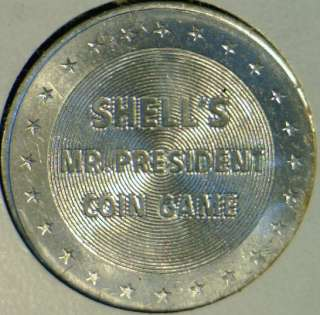 Garfield Mr. President Commemorative Shell Game Medal Token   Coin
