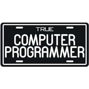 New  True Computer Programmer  License Plate Occupations
