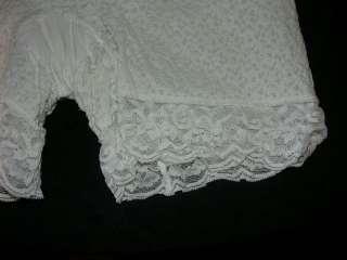 Vtg White Lace Leg Thigh Girdle Shaper Union Label L XL 60s