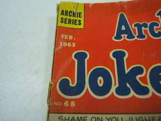 Archies Joke Book Comic Feb 1963 No 68 Archie Series