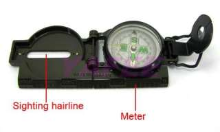 PRO Military Hiking Camping Metal Army Lens Map Compass