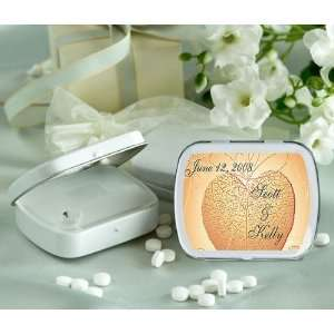 Wedding Favors Heart Shape Leaf Design Personalized Glossy