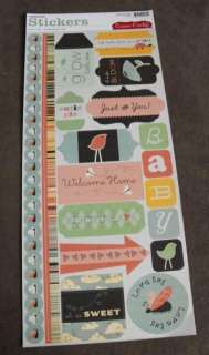 Cosmo Cricket Earth Love Cardstock Stickers, Love Bug, Just for You