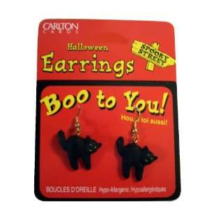 Pair of Black Cats Halloween Jewelry Costume Accessory Toys & Games