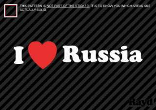 Love Russia Sticker Decal Die Cut Vinyl