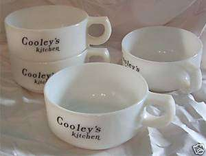 Vintage Cooley White Milk Glass Soup Chili Bowl Set