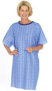 Hospital Patient GOWN Tie Back ONE SIZE FITS most Blue