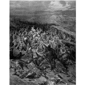 Greetings Card Gustave Dore Crusades 200 Knights Attack 20000 Saracens