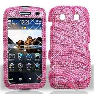 Blackberry 9850 Torch Full Diamond Hot Pink Pink Zebra