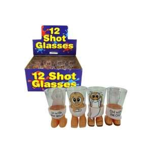 New Year Father Time/Baby New Year Shot Glass Case Pack