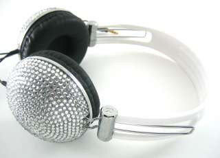 crystal rhinestone dj headphones makes you the envy of all your