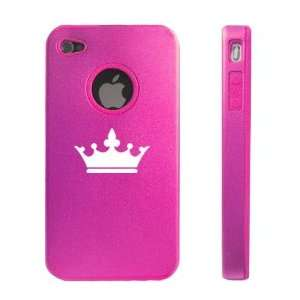 Apple iPhone 4 4S 4G Hot Pink D01 Aluminum & Silicone Case
