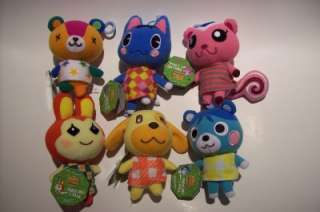 Tomy ANIMAL CROSSING Plush Keychan SET OF 6 {no sound}