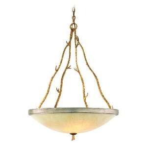 Parc Royale Collection 5 Light 41 Gold and Silver Leaf Energy Star