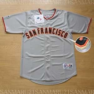 San Francisco Giants Majestic SEWN jersey Gray 2XL NWT