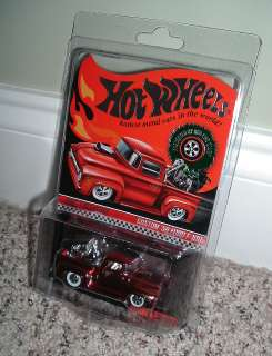RARE Hot Wheels RLC Holiday Car Custom 56 Ford F 100 w/ Cycle   MOC
