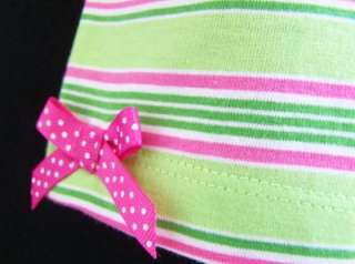 NEW Girls PINK & LIME ICE CREAM RUFFLE Size 3T bOuTiQuE Shorts