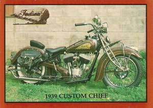 1939 Indian Custom Chief Express Crusier Motorcycle Engine 74 cu. in