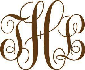 18 Personalized Monogram Initials Vinyl Lettering Wall
