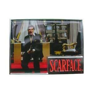 Mens Scarface Say Hello Picture Square Metal Belt Buckle