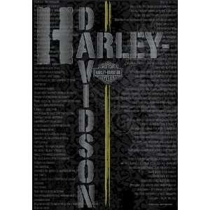 Licensed Harley Davidson Pavement Slogans Flag 30 X 43