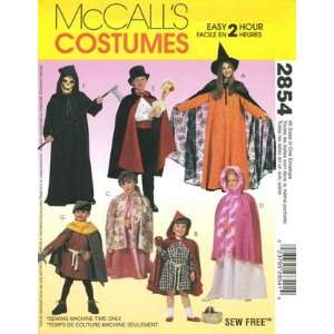 and Girls Hooded Cape and Tunic Costume Pattern