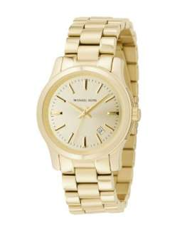 MICHAEL KORS GOLD TONE STAINLESS STEEL BAND CLASSIC WATCH MK5160 NEW