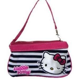 Sanrio HELLO KITTY Stripe Kitty Wristlet Purse PINK