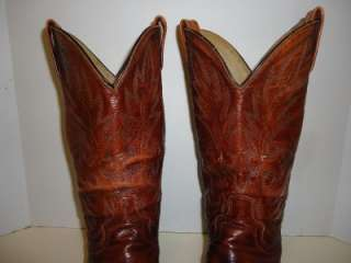 MENS DAN POST BROWN LEATHER WESTERN COWBOY BOOTS SZ 11 EW