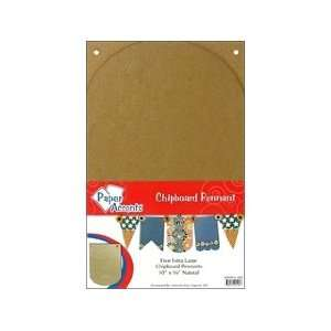 Paper Accents Chipboard Pennants Extra Large Arched 10x 16