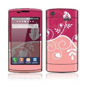 Samsung Captivate Decal Skin Sticker   Pink Abstract Flower