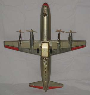 VINTAGE LINEMAR AMERICAN AIRLINES AIRPLANE N6100A BATTERY OPERATED TIN