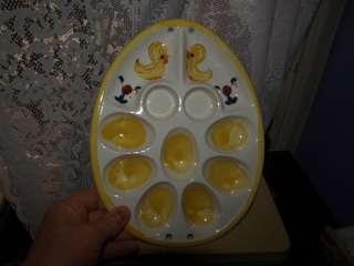 vintage japan davar originals easter devilded egg plate