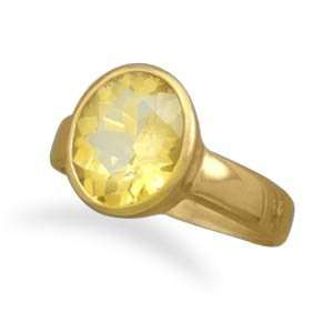 14 Karat Gold Plated Citrine Ring Jewelry