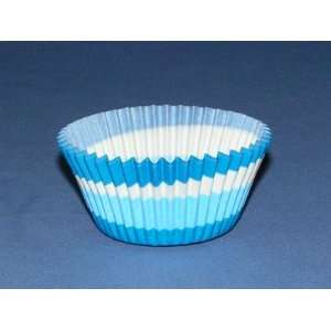 Blue White Swirl Cupcake Cups Baking Liners Strong Standard Size 35