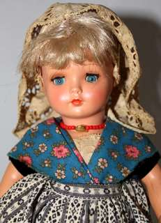 DOVINA HOLLAND ROTTERDAM 12 DOLL W/BLUE SLEEP EYES HARD PLASTIC