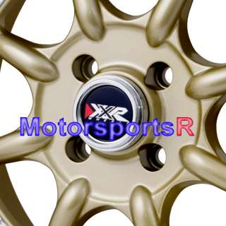 15 15x8 XXR 002 Gold Rims Wheels Deep Dish 4x100 Miata |