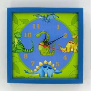 Dinosaur Kids Child Boys Room Wook Wall Clock