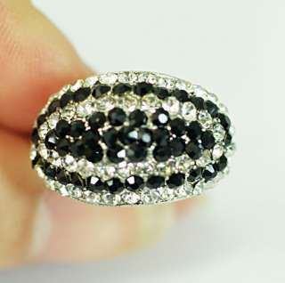 GP Gold Plated Gemstone Zirconia CZ Adjustable Cocktail Ring Jewelry