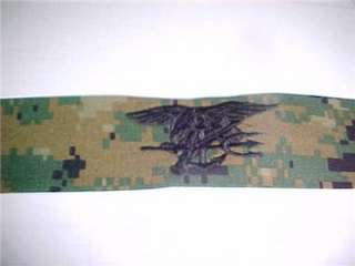 NAVY SEAL DEVGRU MARPAT WOODLAND EAGLE TRIDENT TAPE