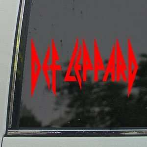 Def Leppard Red Decal UK Rock Band ruck Window Red