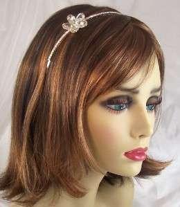 CLEAR RHINESTONE Flower Headband Hair Accessory Bridal