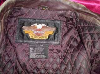 Harley Davidson Leather Jacket Vintage 1998 Winged Bomber XL