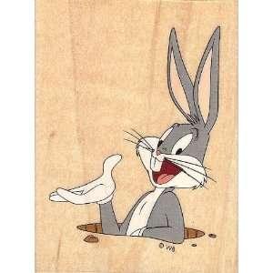 Looney Tunes Large Bugs Bunny Rabbit Hole Wood Mounted