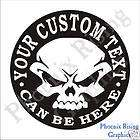 Euro Style Oval Custom Personalized Vinyl Sticker Decal