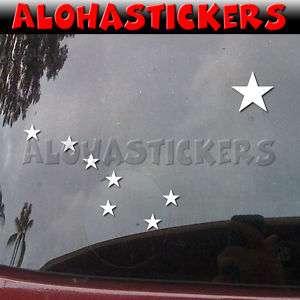 BIG DIPPER STARS ALASKA FLAG Vinyl Decal Sticker ST15